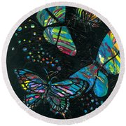 Butterfly Beauties Round Beach Towel by Denise Hoag