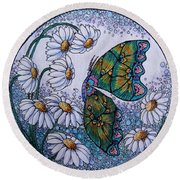 Butterfly Circle Round Beach Towel