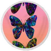 Round Beach Towel featuring the photograph Butterfly Collage IIII by Robert Meanor