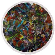 Round Beach Towel featuring the photograph Butterfly Collage by Robert Meanor