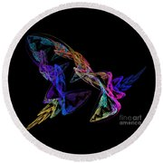 Butterfly Dance Round Beach Towel