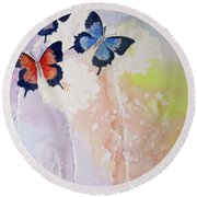Butterfly Dream Round Beach Towel