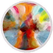 Butterfly In Abstract Round Beach Towel