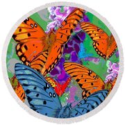 Butterfly Joy Round Beach Towel