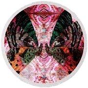 Round Beach Towel featuring the digital art Butterfly Kaleidoscope by Kyle Hanson