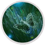 Butterfly Magic By Jrr Round Beach Towel by First Star Art