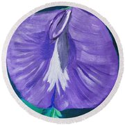 Butterfly Pea Round Beach Towel
