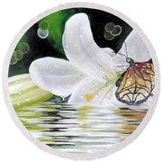 Butterfly Series Seven Round Beach Towel