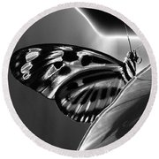 Butterfly Solarized Round Beach Towel