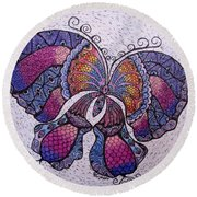 Butterfly Tangle Round Beach Towel