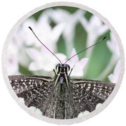 Butterfly View Round Beach Towel