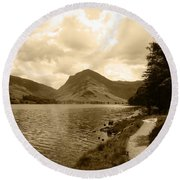 Buttermere Bright Sky Round Beach Towel
