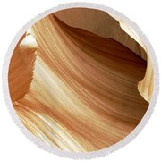 Butterscotch Taffy Antelope Canyon Round Beach Towel