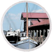Buy Boat Old Point Round Beach Towel