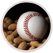 Buy Me Some Peanuts - Baseball - Nuts - Snack - Sport Round Beach Towel