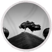 Buzzards 2 Round Beach Towel