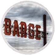 by The Barge Round Beach Towel