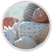 By The Seashore Round Beach Towel