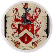 Byrne Coat Of Arms Round Beach Towel