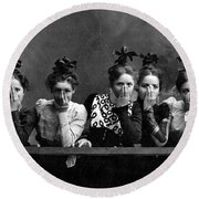 C. 1890 American Girls Round Beach Towel by Historic Image