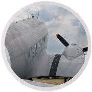Round Beach Towel featuring the photograph C-47 3880 by Guy Whiteley