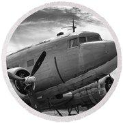 C-47 Skytrain Round Beach Towel by Guy Whiteley