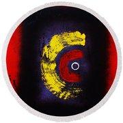 Round Beach Towel featuring the painting C Wa Ninshin No Tamedearu by Roberto Prusso