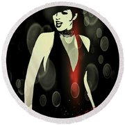 Cabaret Round Beach Towel