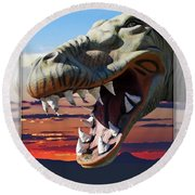 Cabazon Dinosaur Round Beach Towel
