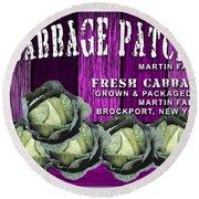 Cabbage Patch Farm Round Beach Towel