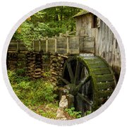Cable Mill Cades Cove Round Beach Towel