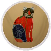 Cabo Gato Round Beach Towel by Marna Edwards Flavell