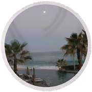 Cabo Moonlight Round Beach Towel by Susan Garren