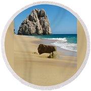 Cabo San Lucas Beach 2 Round Beach Towel