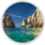 Round Beach Towel featuring the photograph Cabo San Lucas by Sebastian Musial