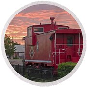 Caboose 1 Round Beach Towel