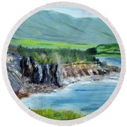 Cabot Trail Coastline Round Beach Towel