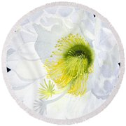 Cactus Flower II Round Beach Towel
