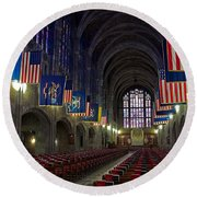 Cadet Chapel At West Point Round Beach Towel