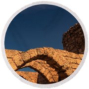 Caesarea Round Beach Towel by David Gleeson