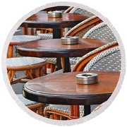 Cafe Janine Round Beach Towel