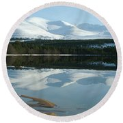 Round Beach Towel featuring the photograph Cairngorm Winter by Phil Banks