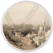 Cairo Looking West, From Egypt Round Beach Towel