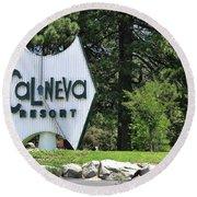 Cal Neva Resort - Lake Tahoe Round Beach Towel
