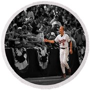 Cal Ripken Round Beach Towel by Brian Reaves