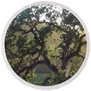 Round Beach Towel featuring the photograph Cali Setting by Shawn Marlow