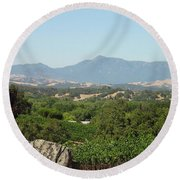 Round Beach Towel featuring the photograph Cali View by Shawn Marlow