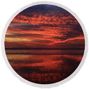 Cardiff Afterglow  Round Beach Towel