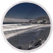 California Coastline Round Beach Towel