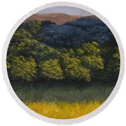 California Foothills Round Beach Towel